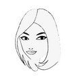 woman face cartoon vector image vector image