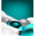 Xmas greeting card Christmas cyan toy vector image vector image
