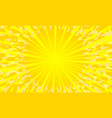 yellow background with sun rays vector image vector image