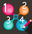 Four Steps Circle Infographic Layout vector image