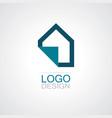 home paper icon logo vector image