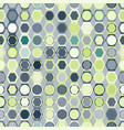seamless pattern of circles in hexagons vector image