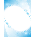 Blue water frame vector image