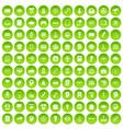 100 creative marketing icons set green circle vector image vector image
