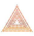 a triangle arabesque in indian style vector image vector image