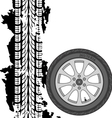 Abstract background tire prints vector image