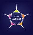 alcoholic cocktails logo vector image vector image