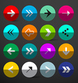 Arrow Buttons Set Colorful Circles with Arrows vector image vector image