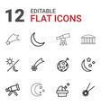 astronomy icons vector image vector image