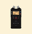 audio recorder vector image