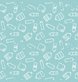 bottle seamless pattern vector image vector image