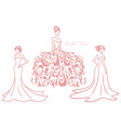 bridal wedding sexy dress boutique logo design set vector image