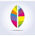 Bright leaf icon vector image vector image