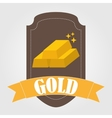 bullion gold vector image vector image