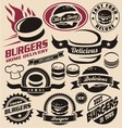 Burger icons labels signs symbols and designs