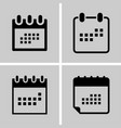 calendar - icon set set calendar icon four you vector image vector image