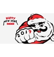 cartoon Santa Clausgreeting cardhappy new year vector image