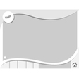clean white tamplate vector image vector image