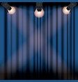 color background stage cinema curtain with vector image