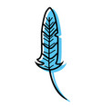 color rustic traditional feather native style vector image vector image