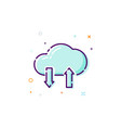 concept cloud icon thin line flat design element vector image vector image