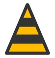 Cone Road Construction Flat Icon vector image