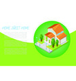 country house or cottage for rent or sale building vector image
