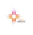 cross circles bubbles health care medical symbol vector image vector image