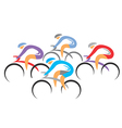 Cyclists racers vector image vector image