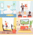 daily routine background busy businessman vector image vector image