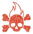 death fire icon grunge watermark vector image