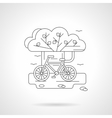 Detailed line for cycling vector image