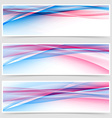 Dynamic speed line web bright header collection vector image vector image