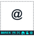 e-mail icon flat vector image vector image