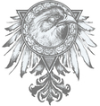 eagle crest vector image vector image