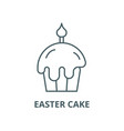 easter cake line icon linear concept vector image