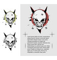 evil skull in different colors a terrible page of vector image vector image