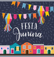 festa junina brazilian june party latin american vector image vector image
