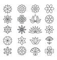 floral monochrome pictures for logos design vector image vector image