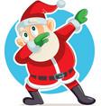 funny dabbing santa claus cartoon vector image vector image