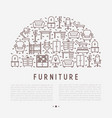 furniture concept in half circle vector image vector image