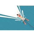 Girl water skiing Top view of woman on the sea vector image vector image