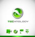 Green sphere 3d technology logo icon design vector image vector image