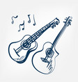 guitar sketch isolated design vector image