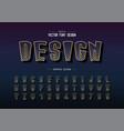 halftone cartoon font and alphabet digital tall vector image vector image