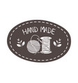 hand made sewing with thread and wool roll vector image vector image