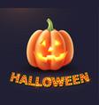 happy halloween pumpkin jack lanterns gourd vector image