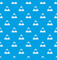 hood pattern seamless blue vector image vector image