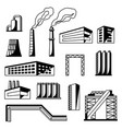 industrial factory objects set vector image