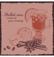 Ink hand drawn mulled wine set vector image vector image